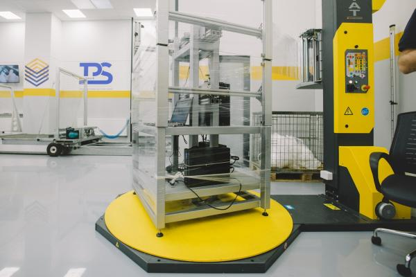 Image of the testing pallet machine developed by Maillis