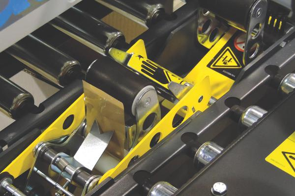 Close up of a case sealer